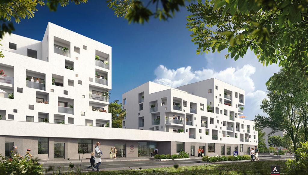 Extérieur résidence seniors Danaé LeBouscat